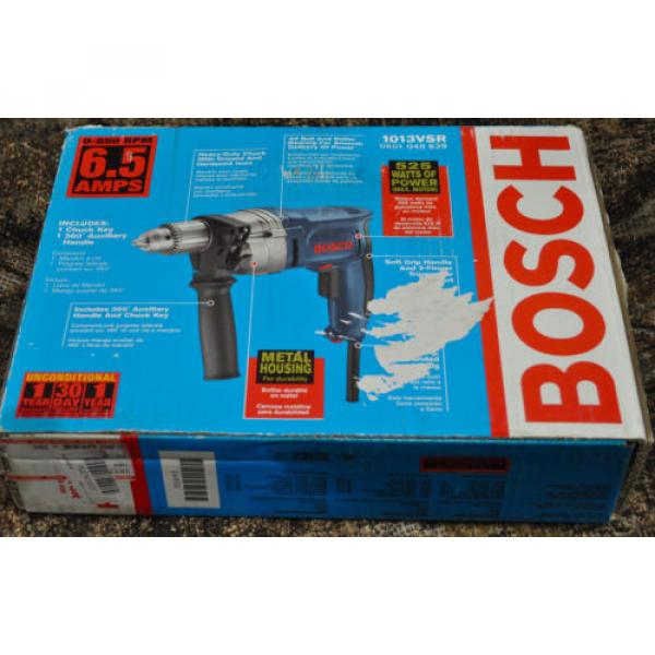 "Bosch High-Torque 1013 VSR 1/2""  Corded Drill/Driver 6.5 850 Heavy Duty - NEW! #4 image"