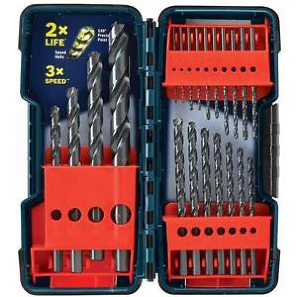 Bosch BL21 21PC Black Oxide Twist Drill Bit Set for Metal, Wood, Plastic, New #1 image