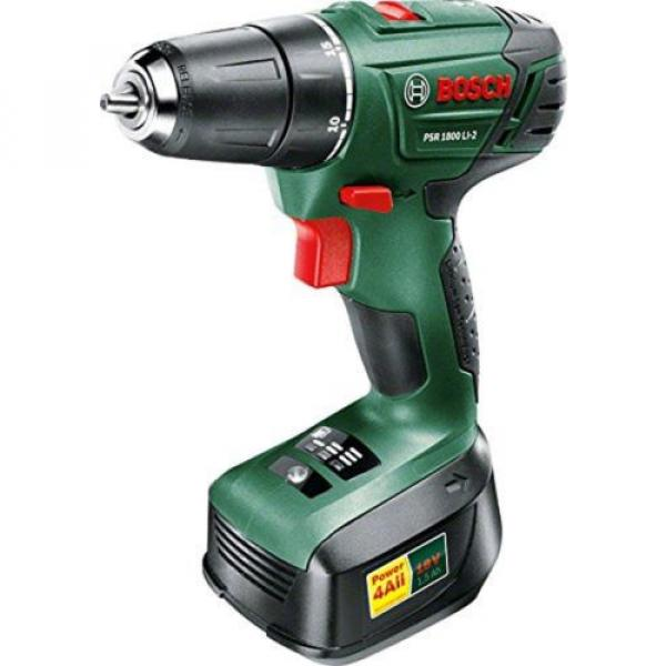 Bosch PSR 1800 LI-2 Cordless Lithium-Ion Drill Driver Featuring Syneon Chip 1... #1 image