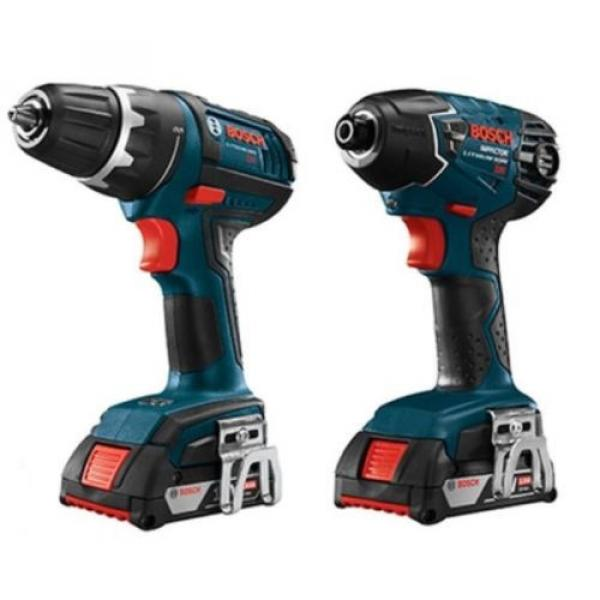New Bosch,4-Tool,18 Volt, Lithium Ion,Cordless Combo Kit,Soft Case,Drill, Driver #2 image