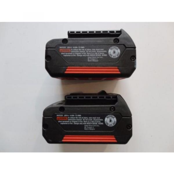 BOSCH BAT620 X 2 18V 18 Volt Lithium Ion 4.0 AH FatPack Battery #1 image