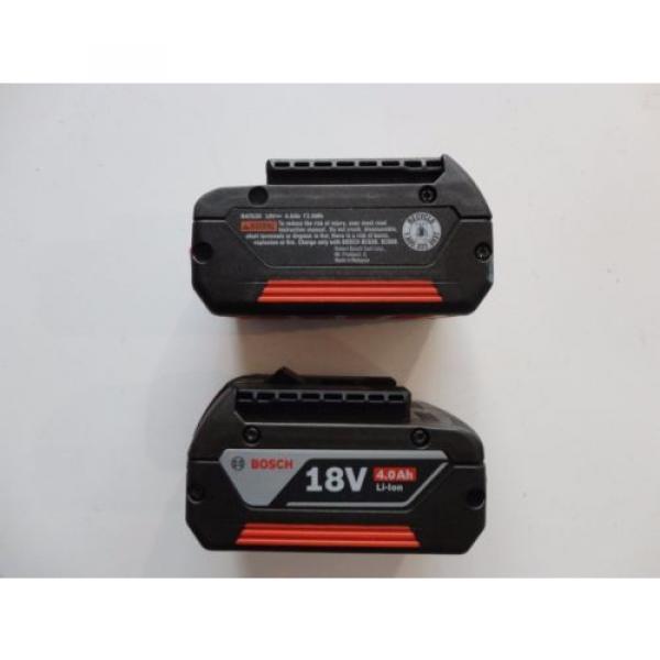 BOSCH BAT620 X 2 18V 18 Volt Lithium Ion 4.0 AH FatPack Battery #2 image