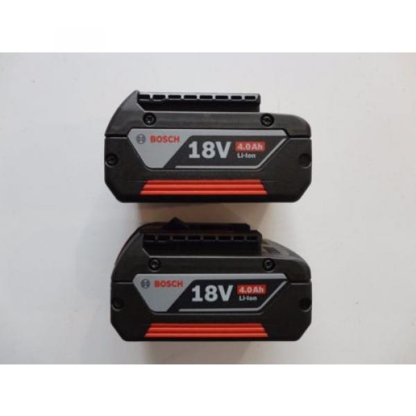 BOSCH BAT620 X 2 18V 18 Volt Lithium Ion 4.0 AH FatPack Battery #4 image