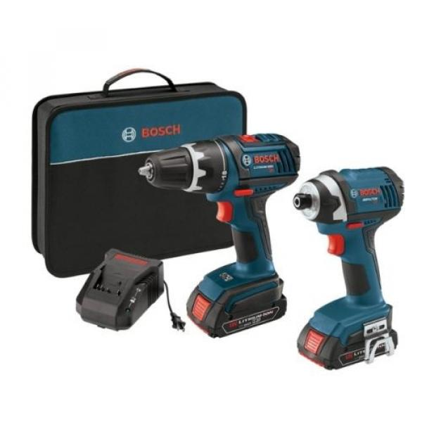 "New 18-Volt Lithium-Ion 2-Tool Combo Kit with 1/2"" Compact Tough Drill/Driver #1 image"