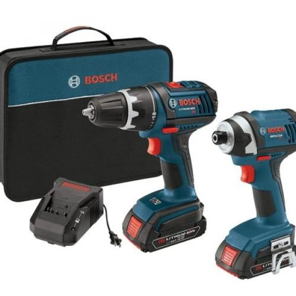 "New 18-Volt Lithium-Ion 2-Tool Combo Kit with 1/2"" Compact Tough Drill/Driver #2 image"
