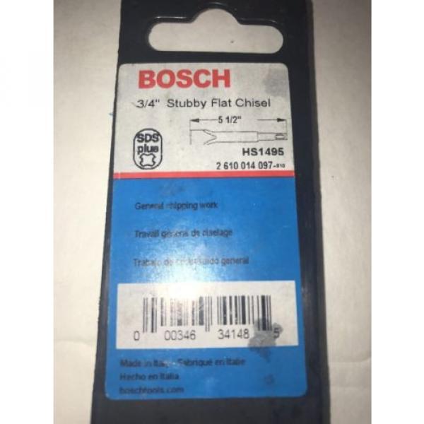 """Bosch HS1495 3/4"""" X 5 1/2"""" SDS Plus Stubby Flat Chisel #2 image"""