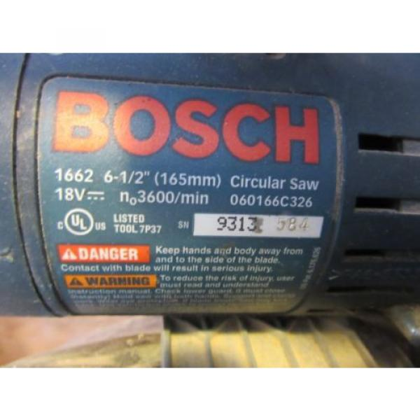 "Bosch 18V 6-1/2"" Cordless Circular Saw WORKS #5 image"