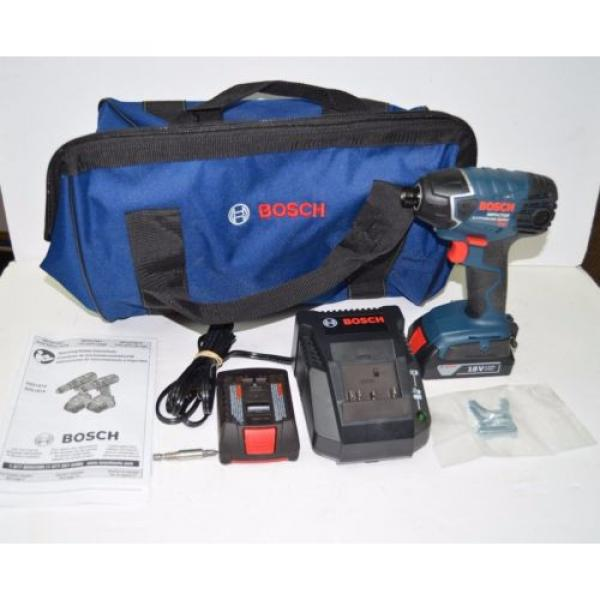 Bosch 25618-02 18-Volt Lithium-Ion 1/4-Hex Impact Driver Kit with 2 Batteries #1 image