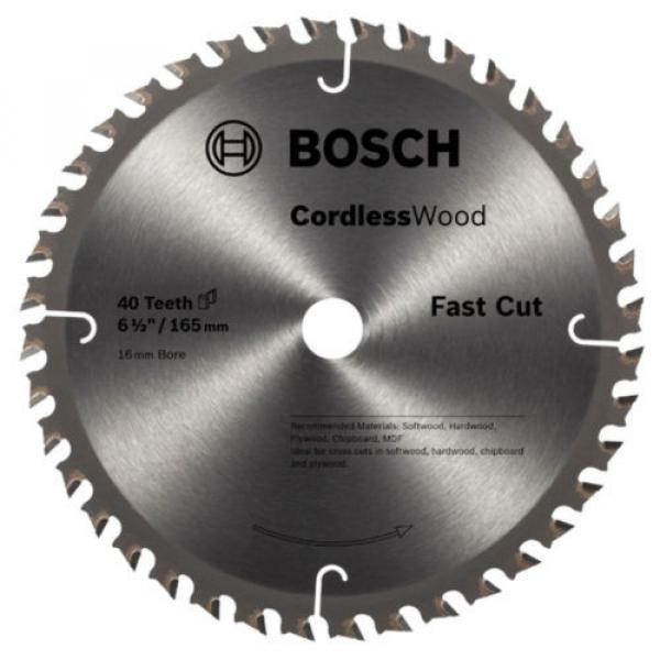 Bosch Cordless Wood Circular Saw Blades 165mm - 18T, 24T or 40T #1 image