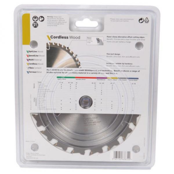 Bosch Cordless Wood Circular Saw Blades 165mm - 18T, 24T or 40T #3 image