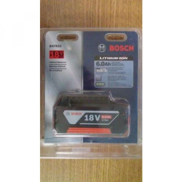 Bosch BAT622 (18V/ 6.0Ah) Lithium-Ion Fat Pack Battery Power Tools High Capacity #1 image