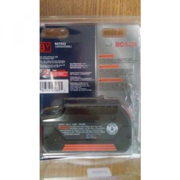 Bosch BAT622 (18V/ 6.0Ah) Lithium-Ion Fat Pack Battery Power Tools High Capacity #2 image