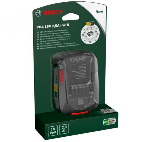 Bosch GREENTOOL Power4ALL 18V 2.5AH Lithium.ION Battery 1600A005B0 3165140821629 #1 image