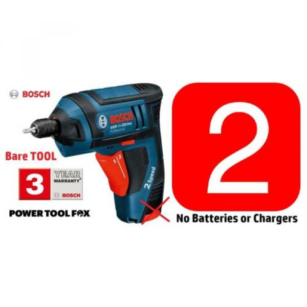 2 x BARE GSR Mx2Drive Cordless Screwdriver Drills 06019A2170 3165140575577' #1 image