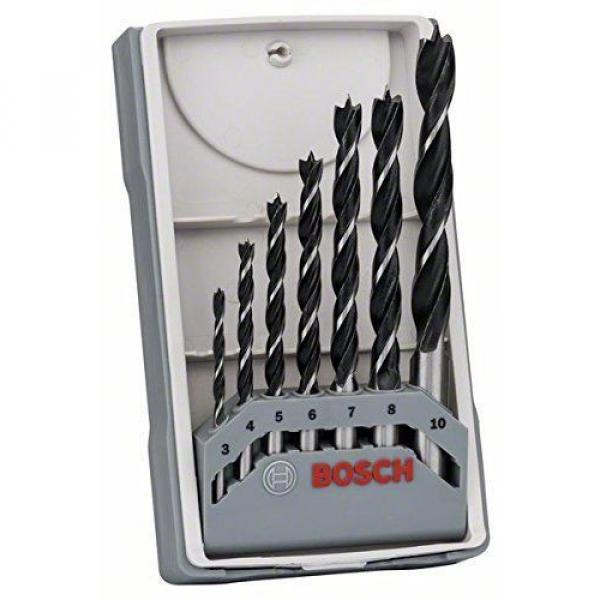 Bosch Wood Drill Bit Set 3/4/5/6/7/8/10 mm X-Pro Straight Shank Brad Point #1 image