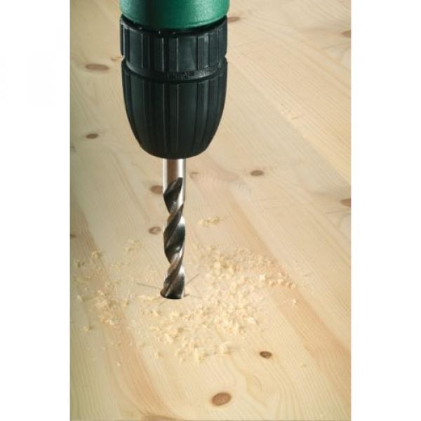 Bosch Wood Drill Bit Set 3/4/5/6/7/8/10 mm X-Pro Straight Shank Brad Point #3 image