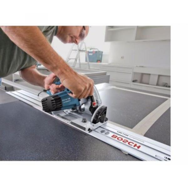 Bosch GKT55GCE 110v Plunge Saw 165mm + Case + 1 x 1.6M Guide Rail + LBOXX New #4 image