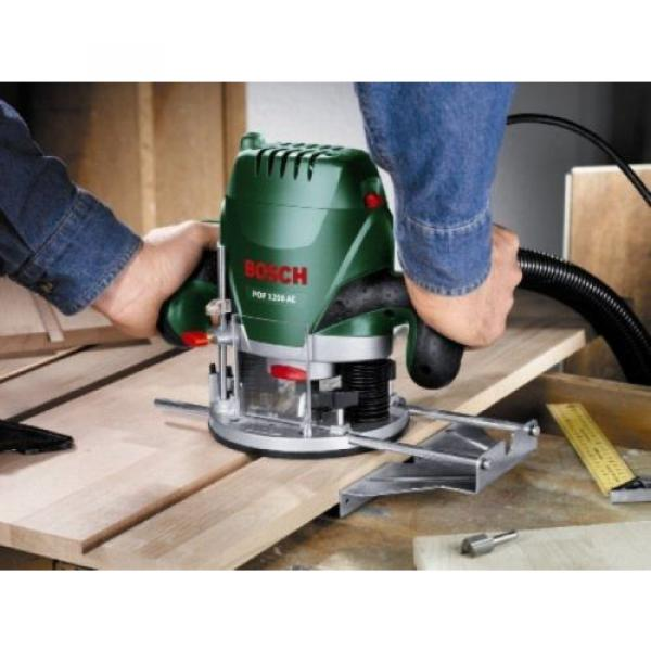 Bosch POF 1200 AE Router With Vacuum Adaptor and Clamping Lever, SDS System #2 image