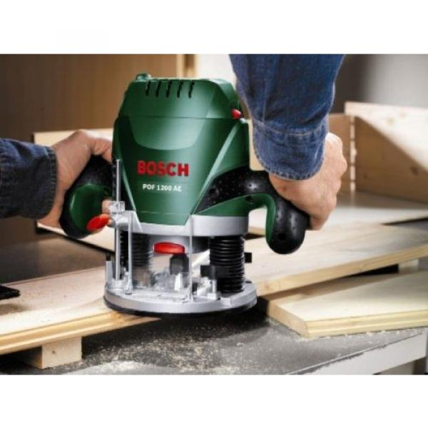 Bosch POF 1200 AE Router With Vacuum Adaptor and Clamping Lever, SDS System #3 image