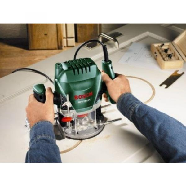 Bosch POF 1200 AE Router With Vacuum Adaptor and Clamping Lever, SDS System #4 image