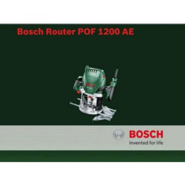 Bosch POF 1200 AE Router With Vacuum Adaptor and Clamping Lever, SDS System #6 image