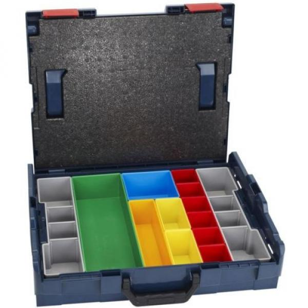 Bosch Small Tool Storage Hard Case Stackable 13 Piece Insert Set Lockable New #1 image