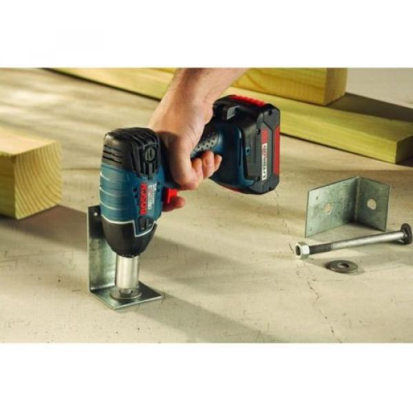 Bosch 18 Volt Lithium-Ion Cordless Electric 1/2 in. Impact Wrench with LED #2 image