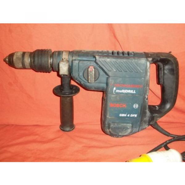 BOSCH GBH 4DFE ROTARY KEYLESS CHUCK  HAMMER DRILL MULTIDRILL 110v 4KG 3 MODE #2 image
