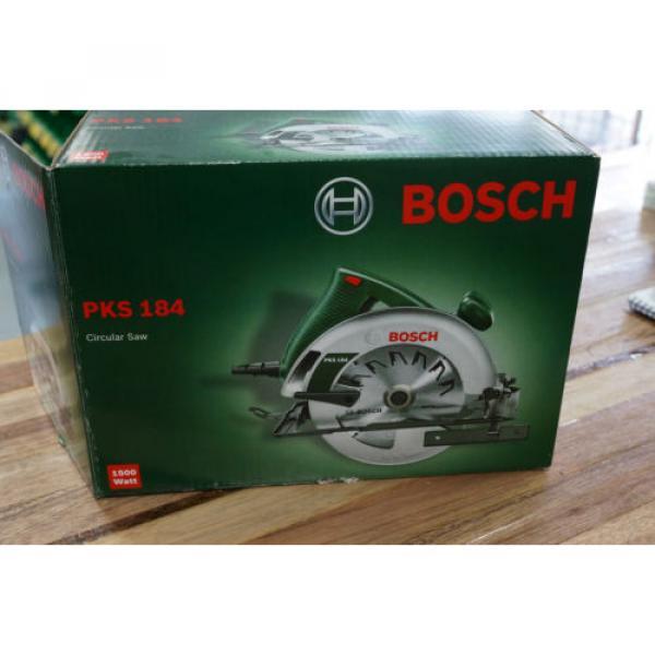 "Bosch PKS184 1500 Watt Circular Power Saw 184mm 7 1/4"" Brand New Includes Blade #4 image"