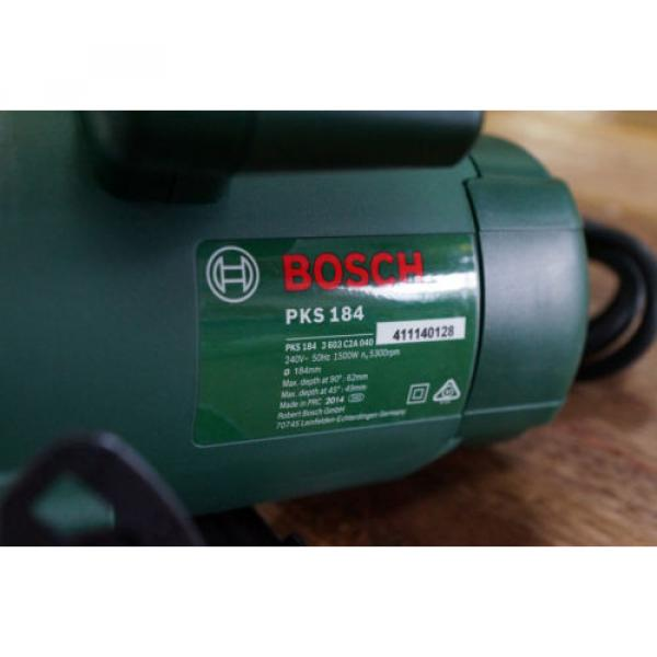 "Bosch PKS184 1500 Watt Circular Power Saw 184mm 7 1/4"" Brand New Includes Blade #5 image"
