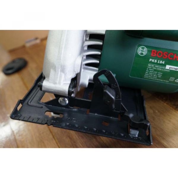 "Bosch PKS184 1500 Watt Circular Power Saw 184mm 7 1/4"" Brand New Includes Blade #6 image"