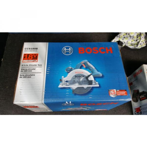 "Bosch 6.5"" Circular Saw CCS180B 18V And SKC181-101 Lithium Ion Starter Kit 18V #1 image"