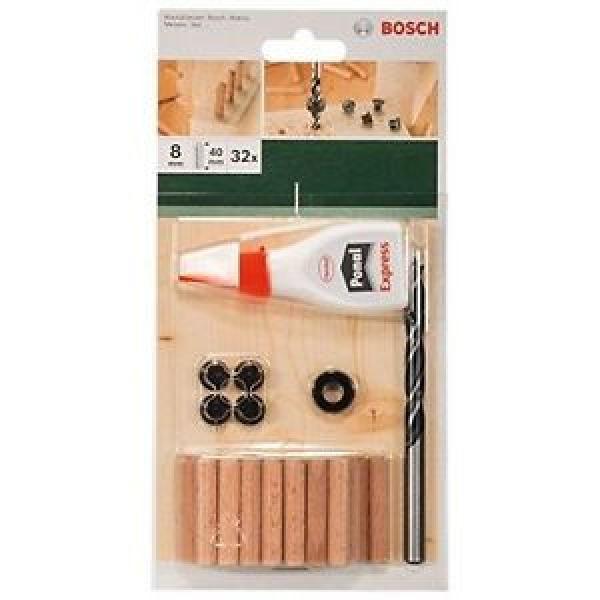 Bosch 32 Accessori, Colla, Punta per Legno, Tasselli 8 x 40 mm #1 image