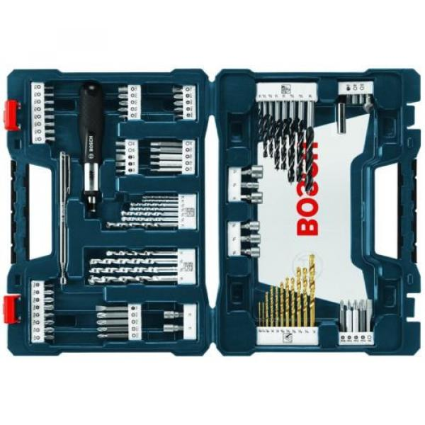 Home Repairs Drill and Drive Bit Power Tool Set Bosch With Box 91-Piece (MS4091) #1 image