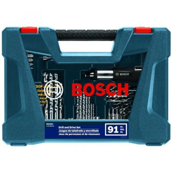 Home Repairs Drill and Drive Bit Power Tool Set Bosch With Box 91-Piece (MS4091) #2 image