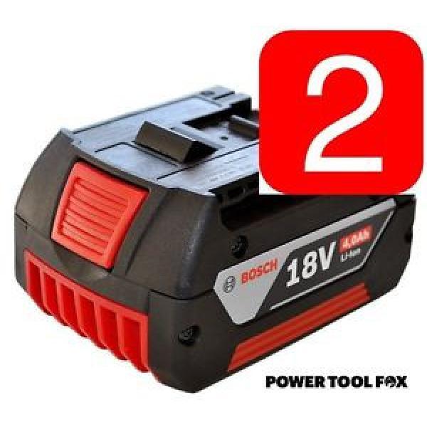 2 x Bosch - 18v 4.0ah Li-ION Batteries (COOL PACK) 2607336815 1600Z00038 1386. #1 image