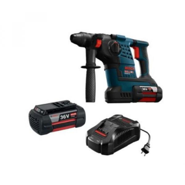 36-Volt Lithium-Ion 1-1/8 in. Cordless Rotary Hammer Drill Hand Tool Blue + Case #2 image