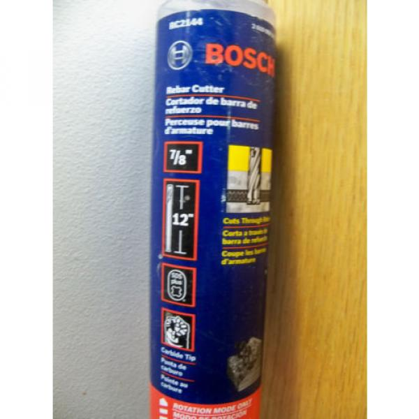 NEW BOSCH RC2144 7/8 X 12 SDS PLUS ROTARY REBAR CUTTER DRILL BIT FREE PRIOTITY #2 image