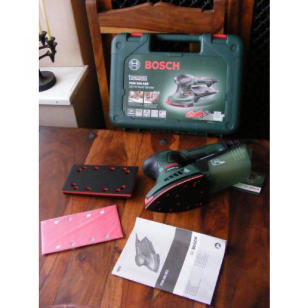 Brand New in Case 2 in 1 Bosch Multi-Sanders PSM 200 AES 200 W 240v #2 image