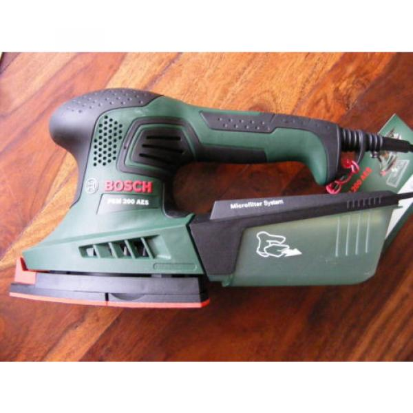 Brand New in Case 2 in 1 Bosch Multi-Sanders PSM 200 AES 200 W 240v #3 image