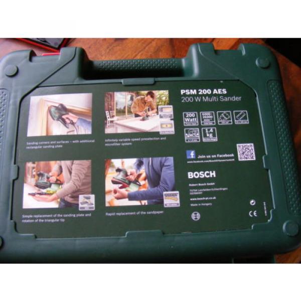 Brand New in Case 2 in 1 Bosch Multi-Sanders PSM 200 AES 200 W 240v #6 image