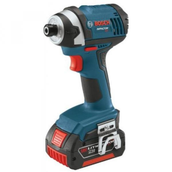 Bosch IDS181-01 18-Volt Lithium-Ion Compact 1/4-Inch Hex Impact Driver with 2 #2 image