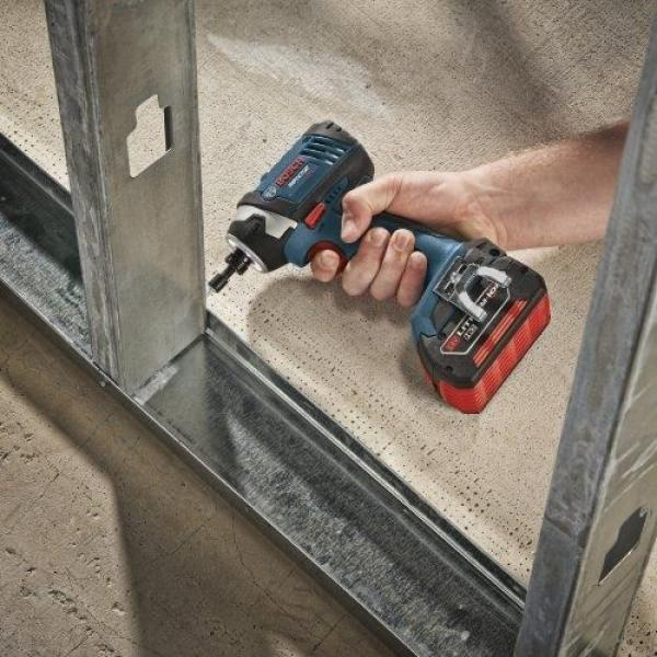 Bosch IDS181-01 18-Volt Lithium-Ion Compact 1/4-Inch Hex Impact Driver with 2 #5 image