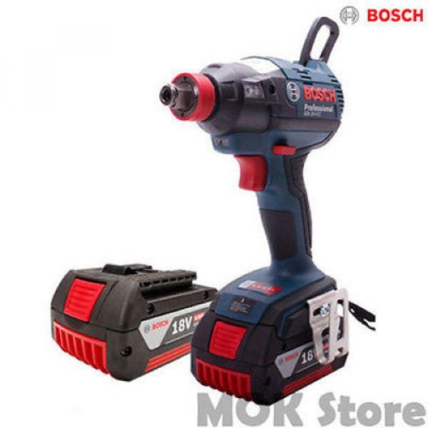 Bosch GDX 18V-EC Cordless li-ion Brushless Driver + 4.0Ah Battery x2 + Charger #1 image