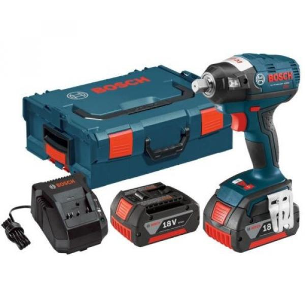 Square Drive Impact Wrench Kit 18 Volt Lithium-Ion 1/2 in. Brushless Detent Pin #1 image