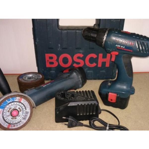 Amoladora y Atornillador a bateria Bosch + 15 discos de corte sds rapido #4 image