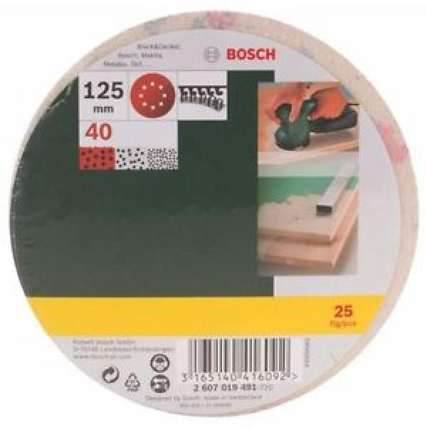 Bosch 2607019491 25 Fogli Abrasivi Roto-orbitale, Grana 40, 125 mm #1 image