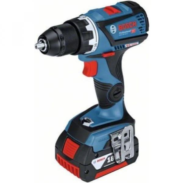Bosch cordless drill GSR 18 V-60 C 2x 5Ah Li Ion Battery L-Box 06019g1101 #2 image