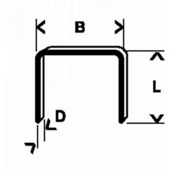 Bosch 2609200216 11.4 X 0.74 X 10 Mm Type 53 Fine Staples #1 image