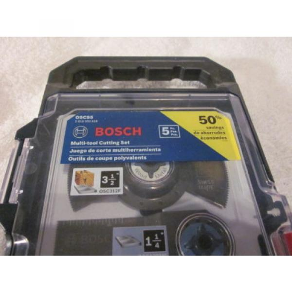 "BOSCH OSCS5 5Pc Multi-Tool Set for Wood & Metal,1-1/8"", 3-1/2"" & 3 1-1/4"" #2 image"